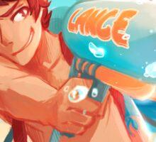 Lance with waterguns Sticker