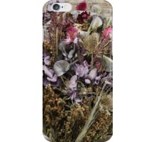 Wedding bouquet and boutonniere made of dried flowers art photo print iPhone Case/Skin