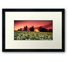Sunset in my backyard  Framed Print