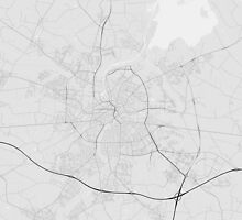 Odense, Denmark Map. (Black on white) by Graphical-Maps