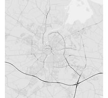 Odense, Denmark Map. (Black on white) Photographic Print