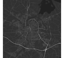 Odense, Denmark Map. (White on black) Photographic Print