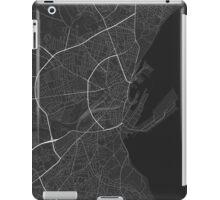 Aarhus, Denmark Map. (Black on white) iPad Case/Skin