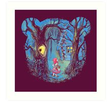 Girl and the bear Art Print