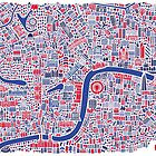 London City Map Poster by Vianina