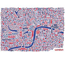 London City Map Poster Photographic Print