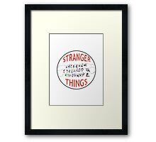 Stranger Things Christmas Alphabet (version two w/ extended wires) Framed Print