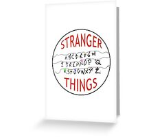 Stranger Things Christmas Alphabet (version two w/ extended wires) Greeting Card