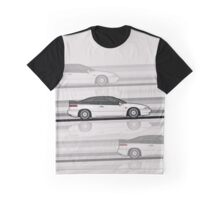 Subaru Alcyone SVX speedlines white Graphic T-Shirt