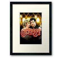 Grease. Olivia Newton-John John Travolta Framed Print