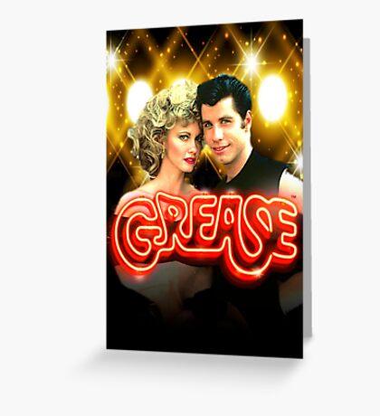 Grease. Olivia Newton-John John Travolta Greeting Card