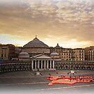 "Naples, Piazza del Plebiscito with ""Europe"" (2) by Rachel Veser"