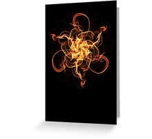 Energetic Geometry - Fire Spinner Bloom  Greeting Card