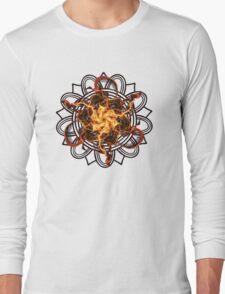 Energetic Geometry - Fire Spinner Bloom  Long Sleeve T-Shirt
