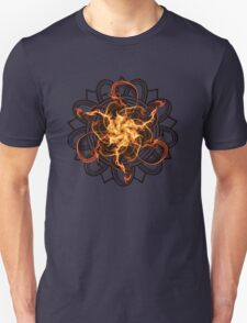 Energetic Geometry - Fire Spinner Bloom  Unisex T-Shirt