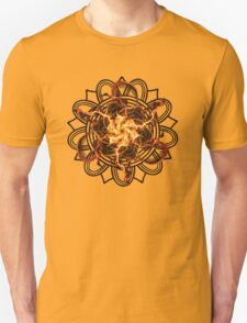 Energetic Geometry - Fire Spinner Bloom  Unisex T-Shirt