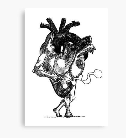 Smoking heart Canvas Print