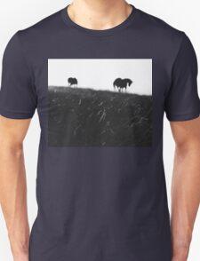 Horses on horizon Unisex T-Shirt