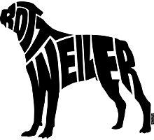 Rottweiler Black Photographic Print