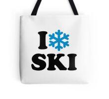 I love Ski snow Tote Bag
