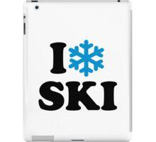 I love Ski snow iPad Case/Skin