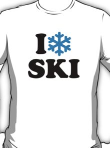 I love Ski snow T-Shirt
