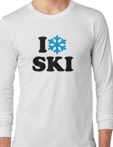 I love Ski snow Long Sleeve T-Shirt