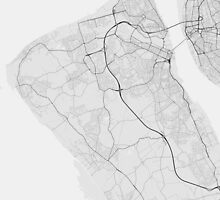 Birkenhead, England Map. (Black on white) by Graphical-Maps