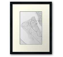 Birkenhead, England Map. (Black on white) Framed Print