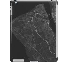 Birkenhead, England Map. (White on black) iPad Case/Skin
