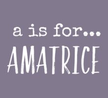 A is for Amatrice (white) Kids Tee