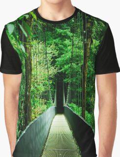 Hanging bridge in the rainforest  Graphic T-Shirt