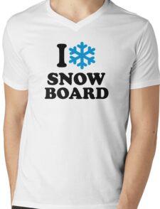 I love snowboard snow Mens V-Neck T-Shirt