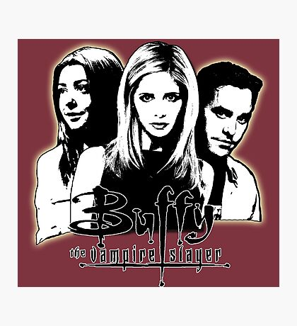 A Trio of Scoobies (Willow, Buffy & Xander) Photographic Print