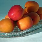 Dish of Delicious Apricots by SunriseRose