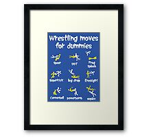 wrestling moves Framed Print