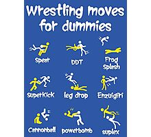 wrestling moves Photographic Print