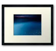 Clear glossy water of lake Huron at dusk art photo print Framed Print