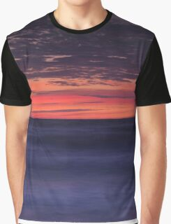 Dramatic abstract sunset scenery of lake Huron art photo print Graphic T-Shirt