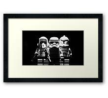 Lego Troopers Framed Print