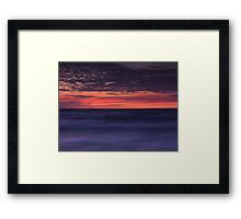 Dramatic abstract sunset scenery of lake Huron art photo print Framed Print