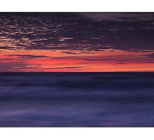 Dramatic abstract sunset scenery of lake Huron art photo print Photographic Print