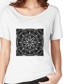Kaleidoscope: Black and White 01 Women's Relaxed Fit T-Shirt