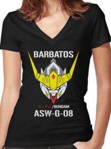 gundam barbatos  Women's Fitted V-Neck T-Shirt