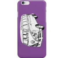 Classic VW 21 window Mini Bus Illustration iPhone Case/Skin
