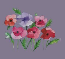 Poppies Amapolas Hand-painted Kids Clothes