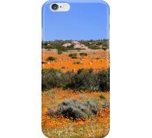 Orange against blue iPhone Case/Skin