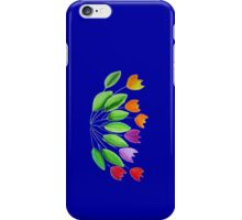 Seven colorful tulips iPhone Case/Skin