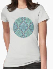 Marker Moroccan in Aqua, Cobalt Blue, Taupe & Teal T-Shirt