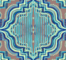Marker Moroccan in Aqua, Cobalt Blue, Taupe & Teal Sticker